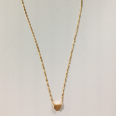 Gold Tone Loop Pendant Necklace