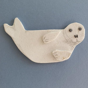 Seal Pup Art - Made From Marine Debris
