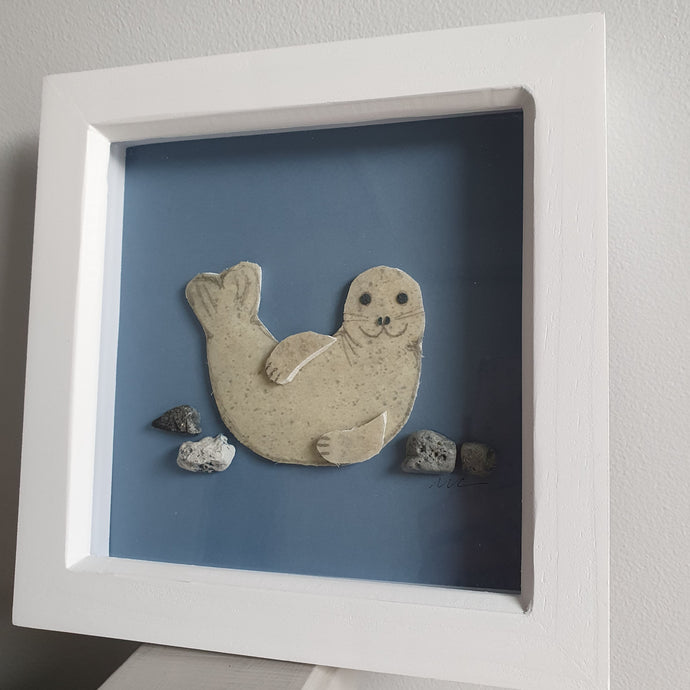 Special Limited Edition Seal Pup Art - Made From Marine Debris
