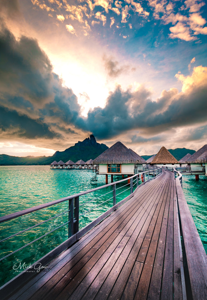 A Cloud storm rolling in over Bora Bora