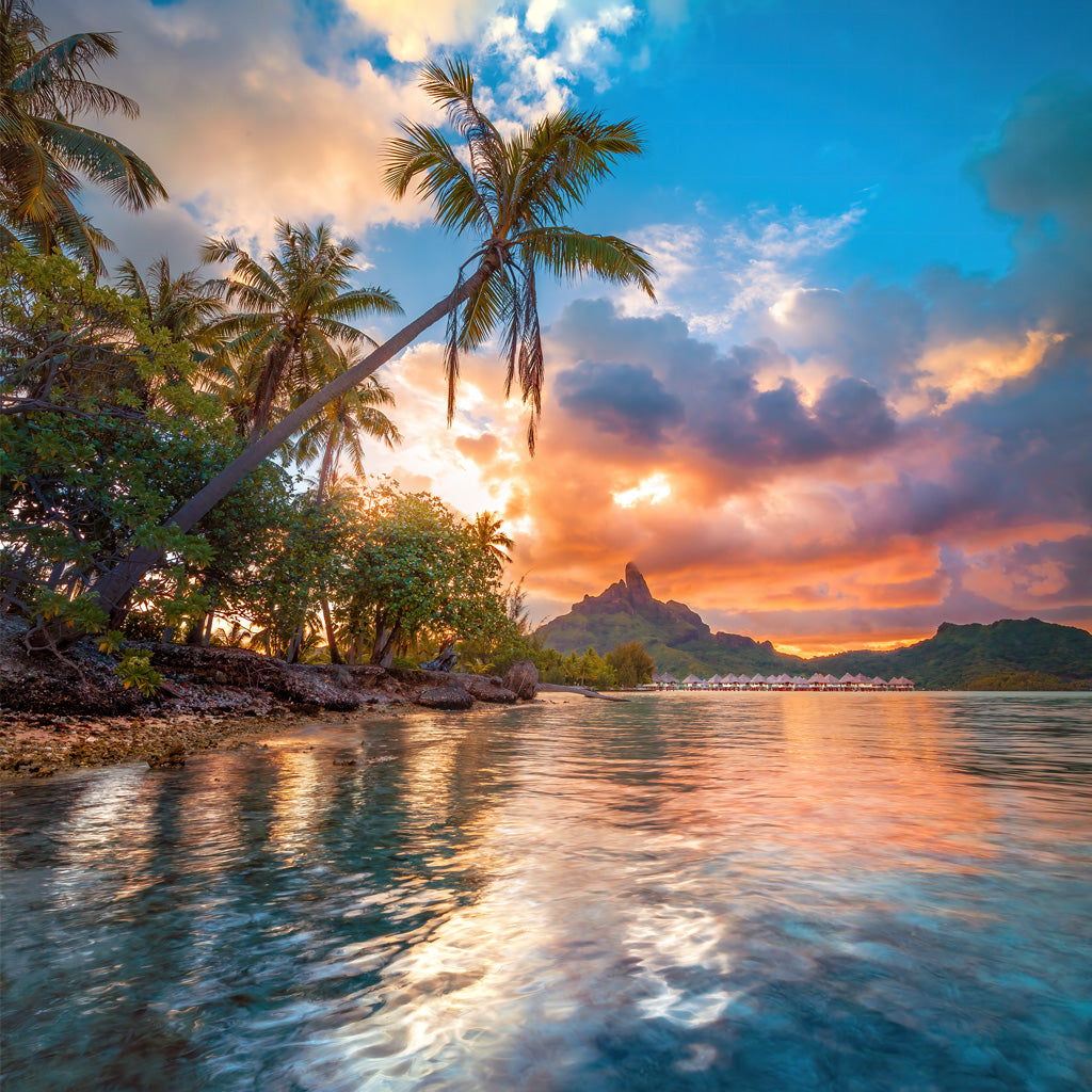 Bora Bora Water Sunset