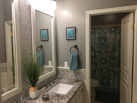 Painted bathroom by DIY with Rod and Shi