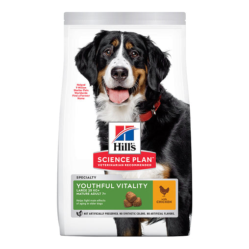 Hill's Adult 7+ Young Vitality Large Breed Dry Food - Chicken