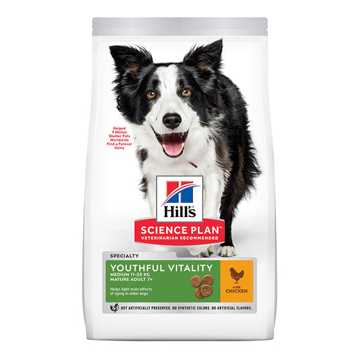 Hill's Adult 7+ Young Vitality Medium Dry Food - Chicken