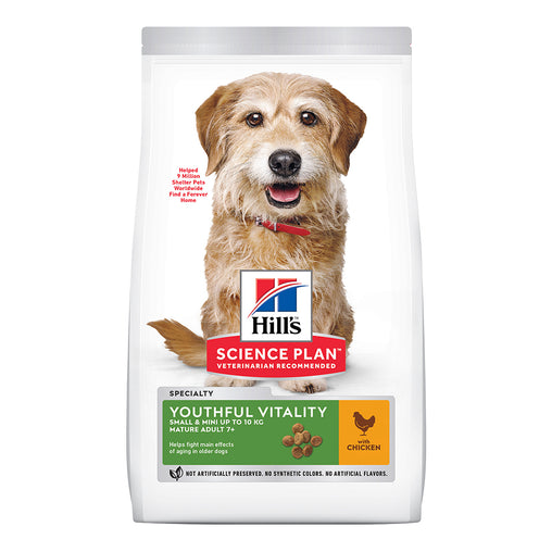 Hill's Adult 7+ Young Vitality Small & Mini Dry Food - Chicken