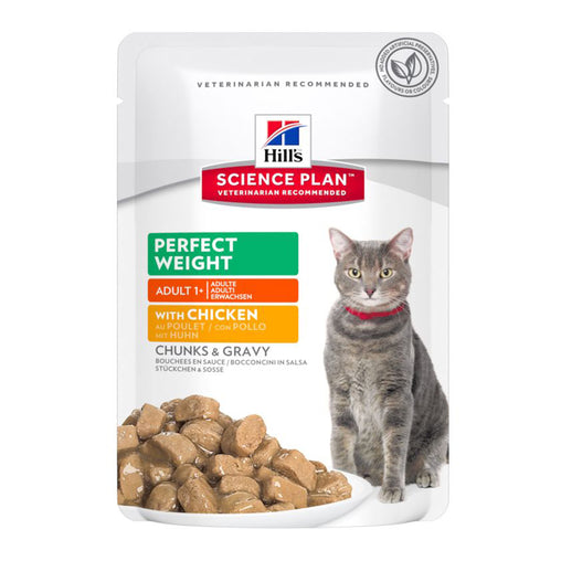 Hill's Adult Perfect Weight Wet Cat Food - Chicken & Salmon