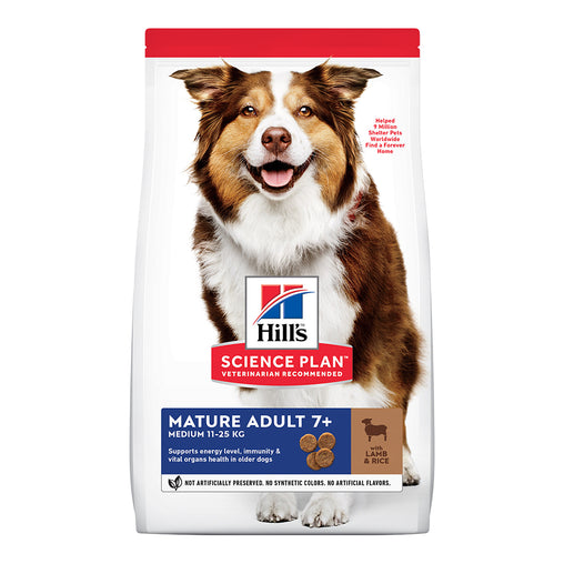 Hill's Mature Adult Medium 7+ Dry Food - Lamb & Rice