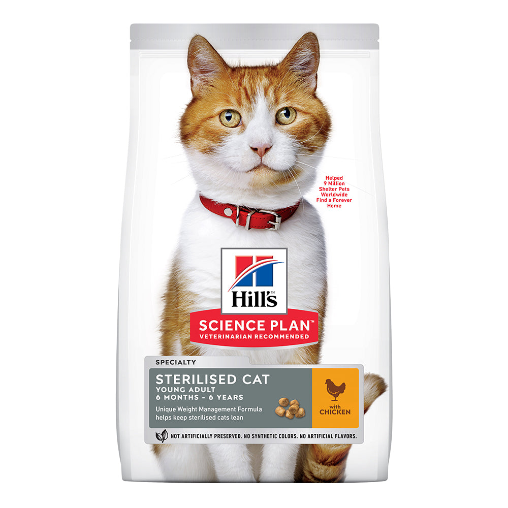 Hill's Young Adult Sterilised Cat Dry Food - Chicken