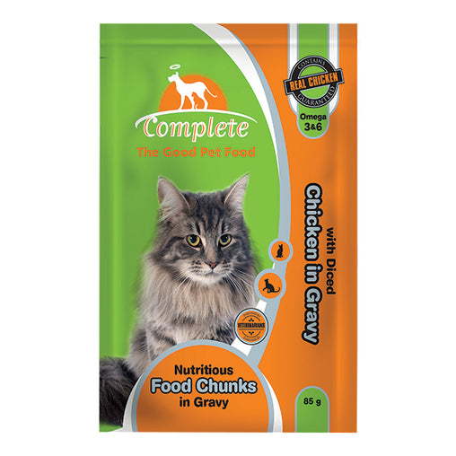 Complete Cat Pouches - Chicken in Gravy