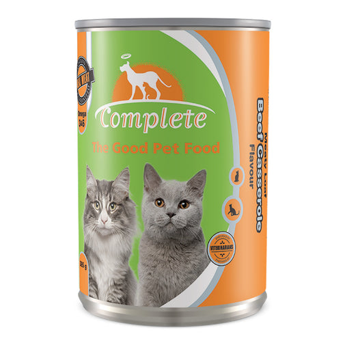 Complete Cat Tin Food Meaty Loaf Beef Casserole Flavour