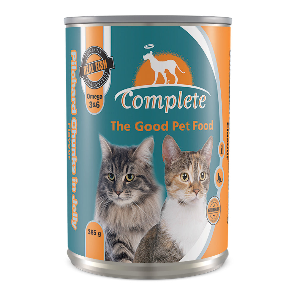 Complete Cat Tin Food Pilchard Chunks Flavour in Jelly