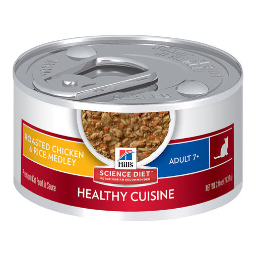 Hill's Mature Adult 7+ Wet Cat Food - Chicken and Rice