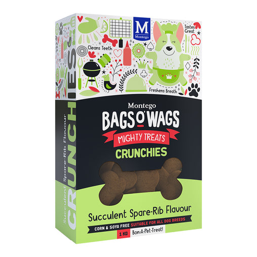 Montego Bags O' Wags Spare-Rib Crunchies