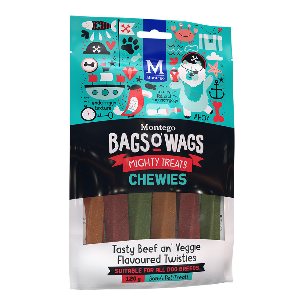Montego Bags O' Wags Tasty Beef an' Veggie