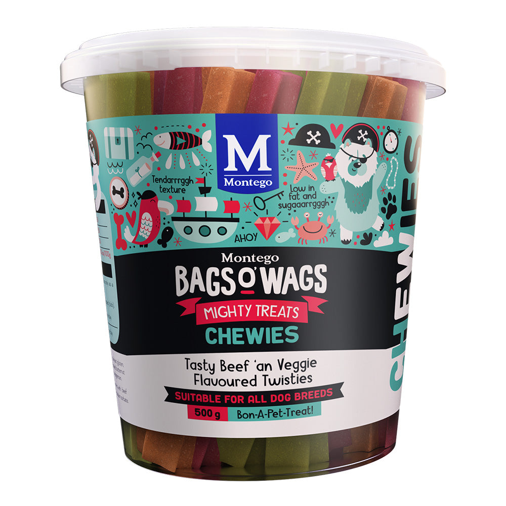 Montego Bags O' Wags Tasty Beef an' Veggie Tub
