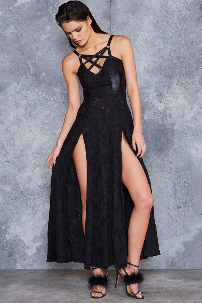 Voodoo Magic Harness Maxi Dress