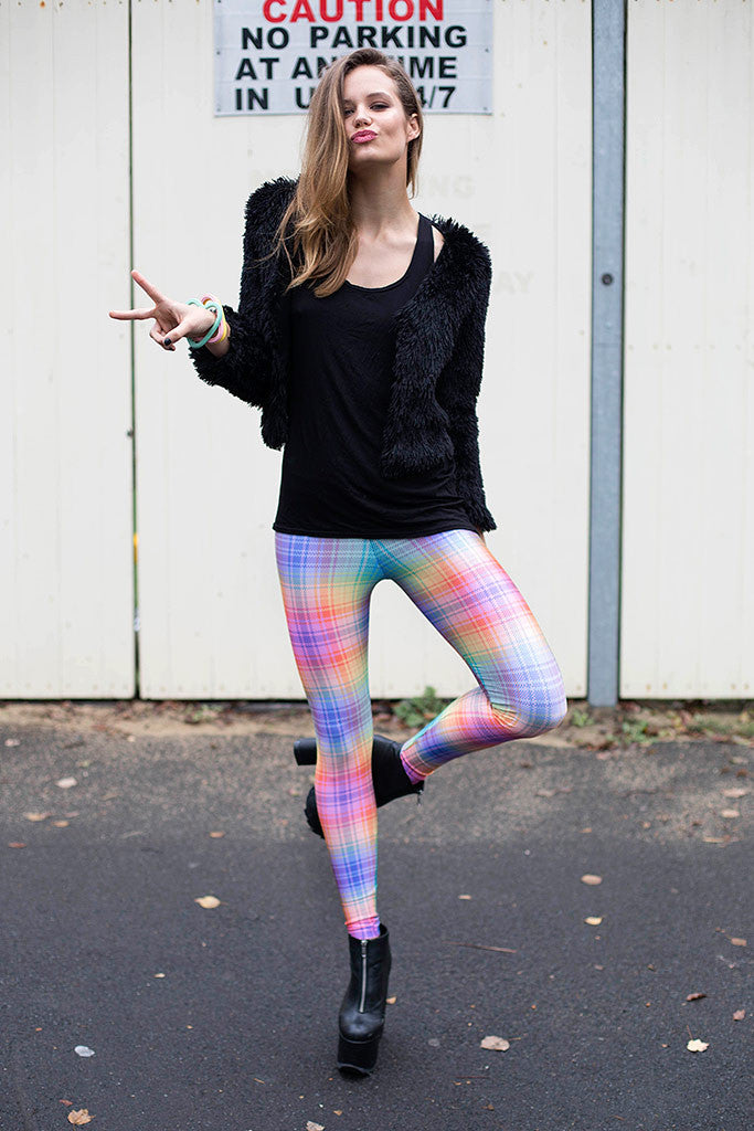 Tartan Rainbow Leggings