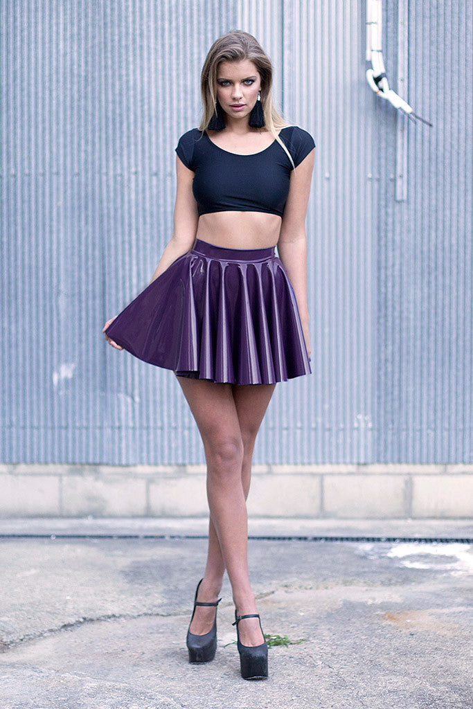 Cyber Grape Cheerleader Skirt