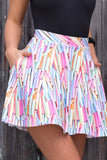 Chalky Pocket Skater Skirt