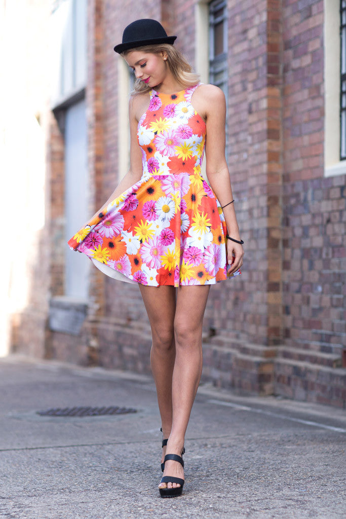 Peace and Love Reversible Skater Dress