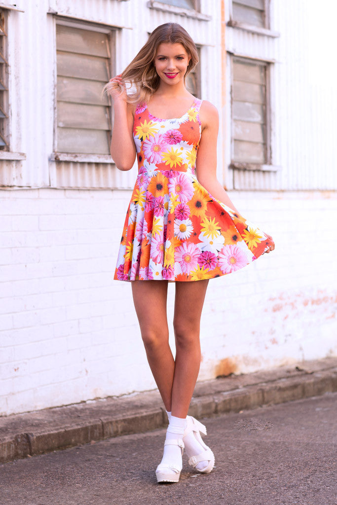 Peace and Love Scoop Skater Dress