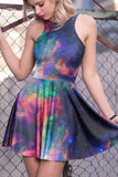 Galaxy Rainbow Reversible Skater Dress
