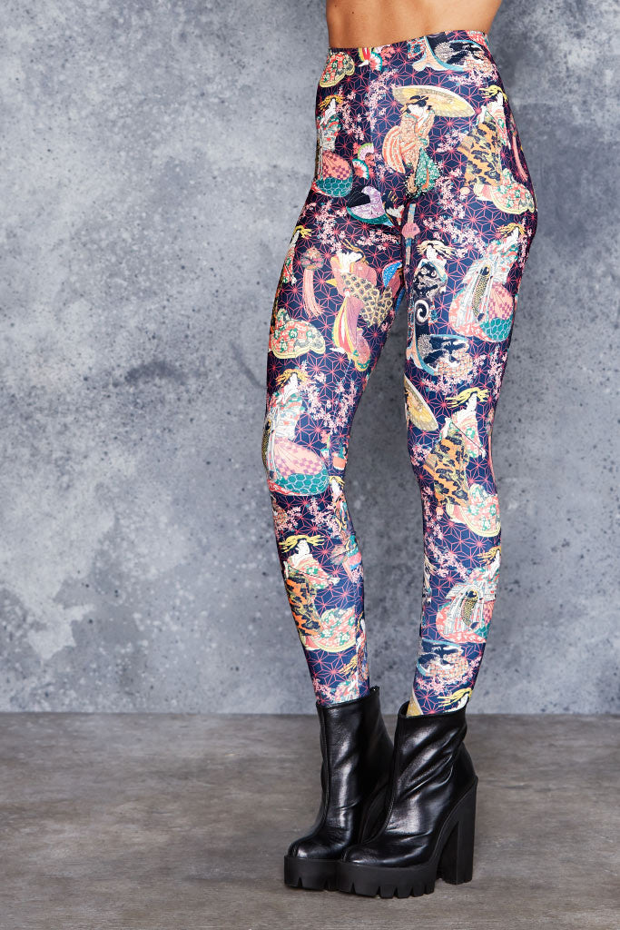 Courtesans of Kikugawa HWMF Leggings - LIMITED