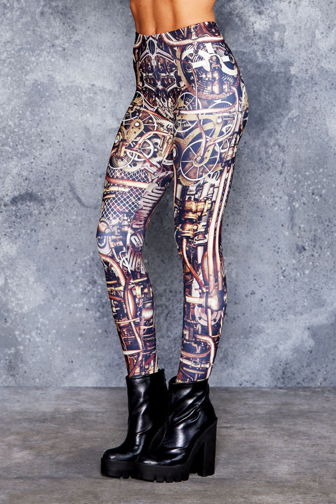 Steam Punk Brass MF Leggings - LIMITED