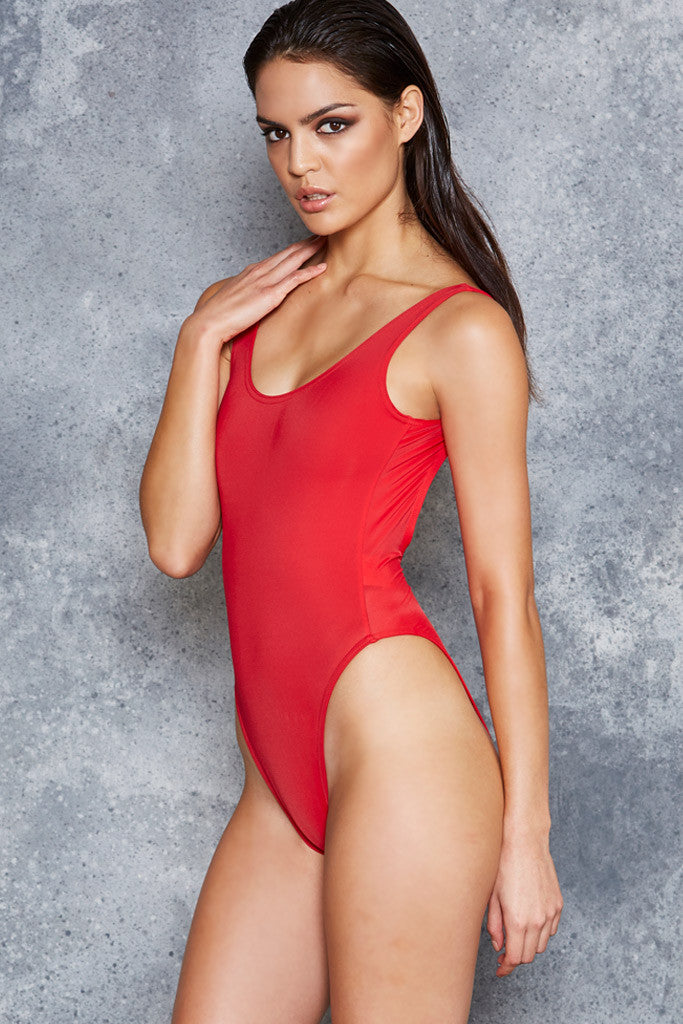 The Red Pamela Suit