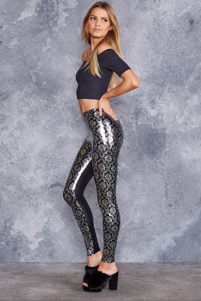 Wallpaper Shiny Shiny New Slicks Leggings - LIMITED