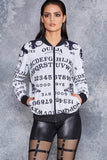 Ouija Board White BF Bomber - LIMITED