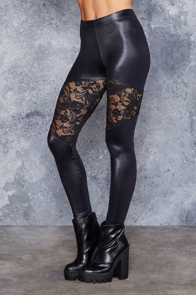 Spartans Lace Leggings - LIMITED