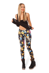 Adventure Time Montage Black Leggings - LIMITED