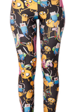 Adventure Time Montage Black Leggings