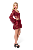 Arabella Wine Dress