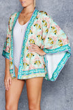 Hummingbirds And Orchids Kimono - LIMITED