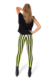 Beetlejuice Neon Yellow Leggings