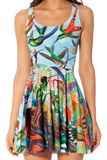 Birds In Paradise Reversible Skater Dress