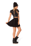 Burned Cheetah Skater Skirt