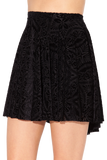 Burned Velvet Skater Skirt