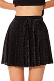 Burned Zebra Skater Skirt
