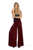 Burned Velvet Wine Volume Pants