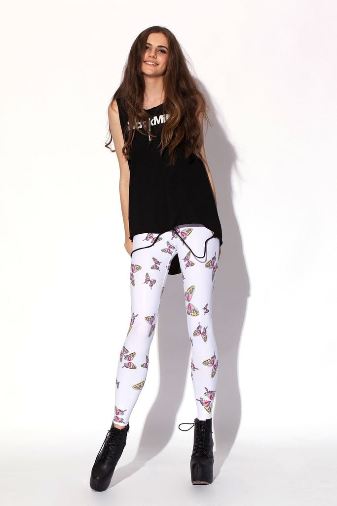 Butterfly White Leggings
