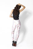 Cherry Blossom White Leggings