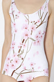 Cherry Blossom White Swimsuit