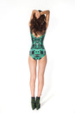 Circuit Board Green Swimsuit