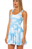 Clouds Reversible Skater Dress