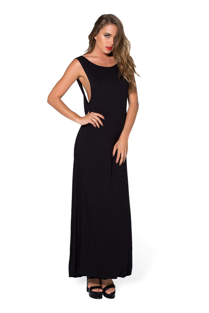 Cowl Back Maxi Dress - LIMITED
