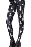 Cross of St Peter Black Leggings