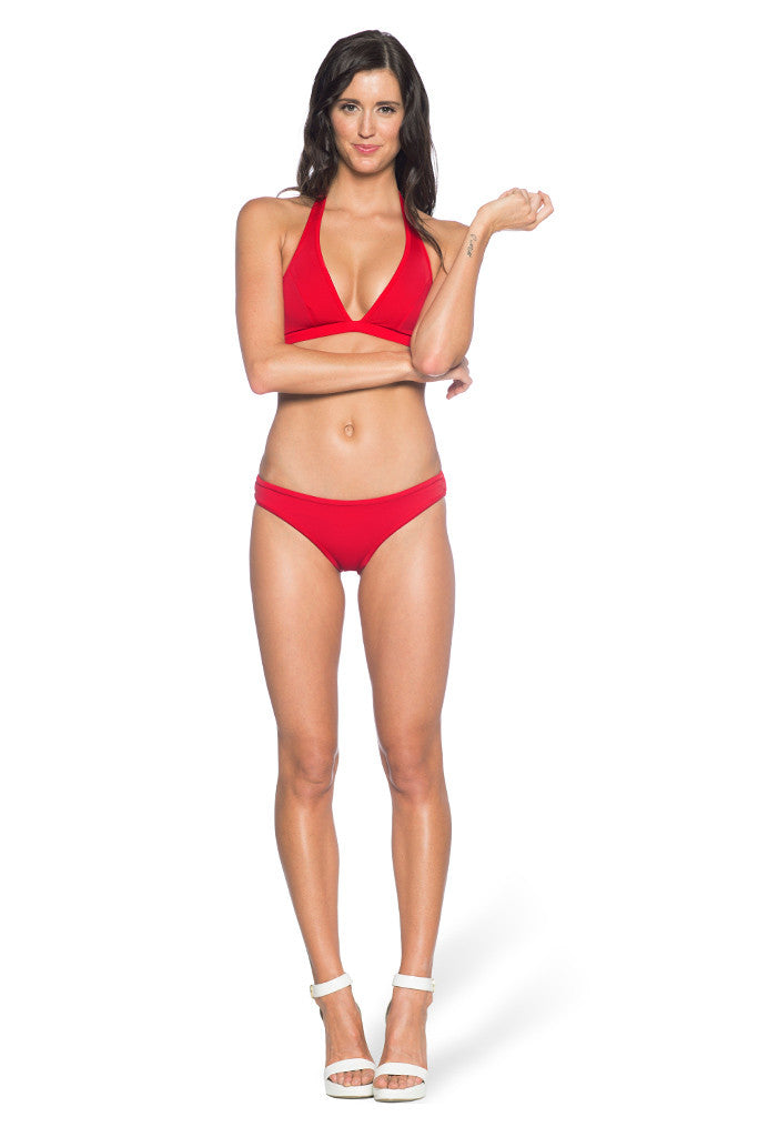 The Awesome Red Vs Black Bikini Bottom - LIMITED